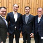Sabah Enversen, Jens Hofschröer, Dennis Weilmann und Harald Vespermann