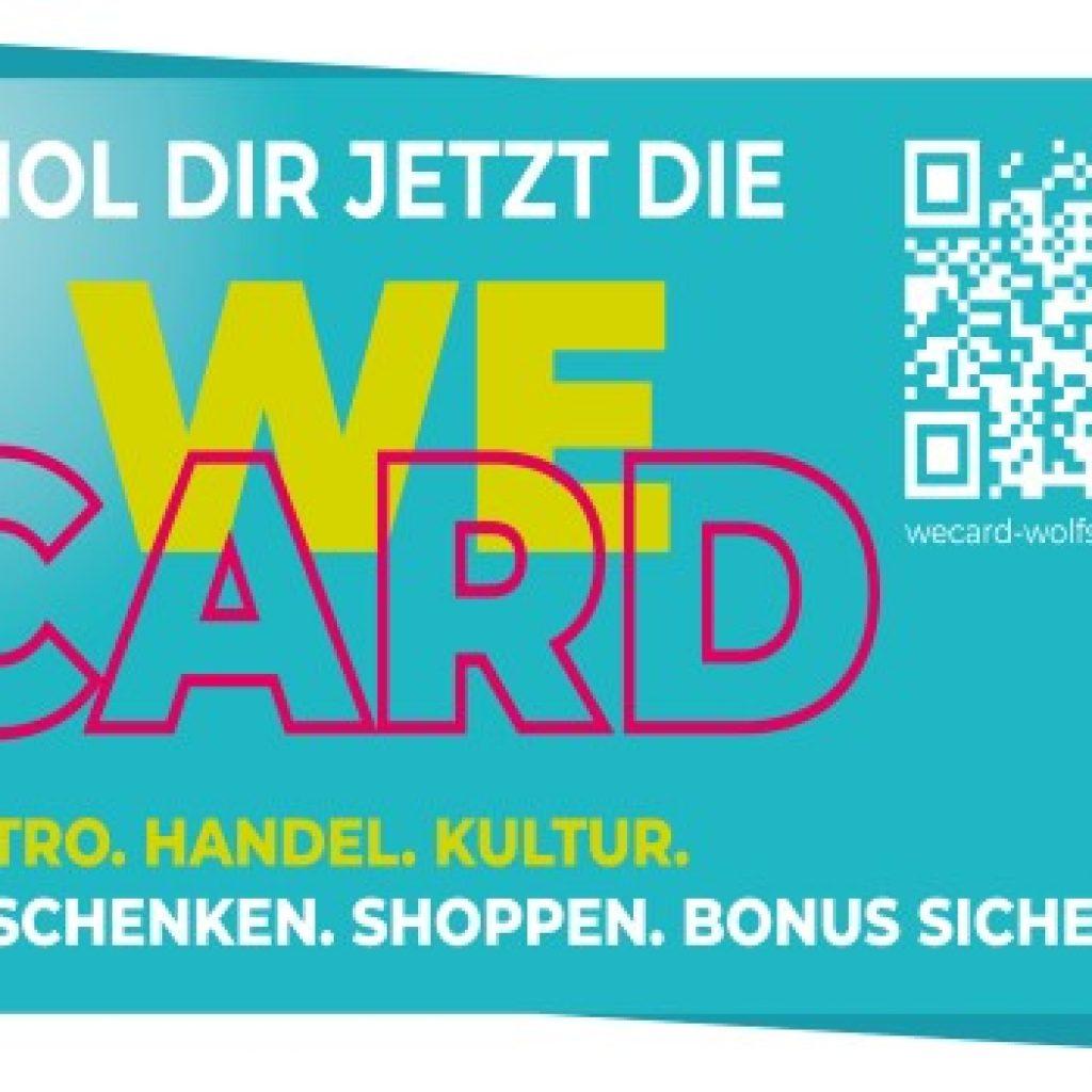 Grafik der WeCard mit QR-Code