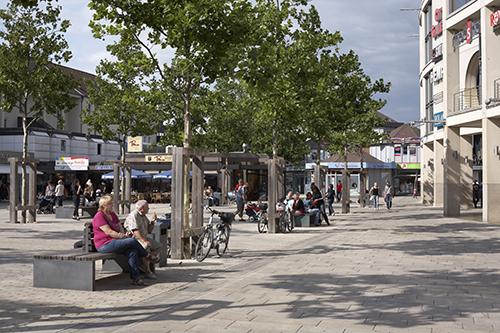 Die Porschestraße in der Wolfsburger Innenstadt. Der Handelsbeirat engagiert sich für die Attraktivierung der Porschestraße.