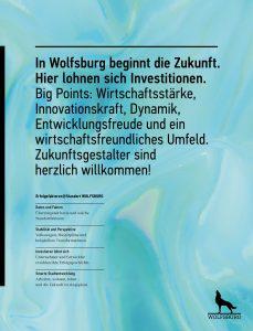 Titelbild der Standortbroschüre Wolfsburg 2021